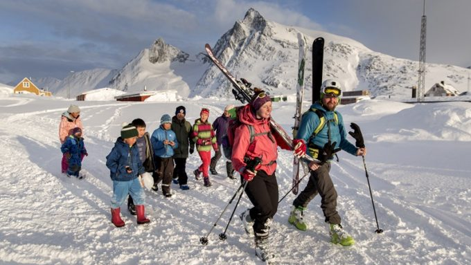 esqui en groenlandia