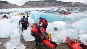 Groenlandia Kayak entre Icebergs 2017