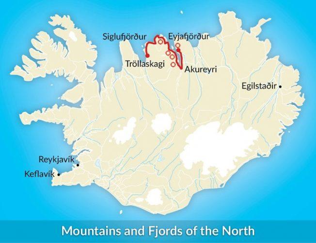 mapa esqui islandia