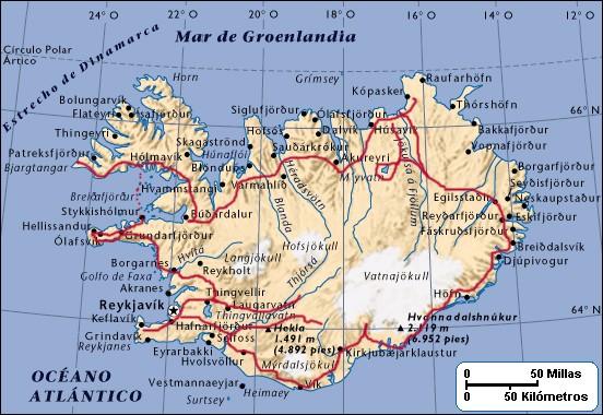mapa islandia 15 d tierra de contrastes