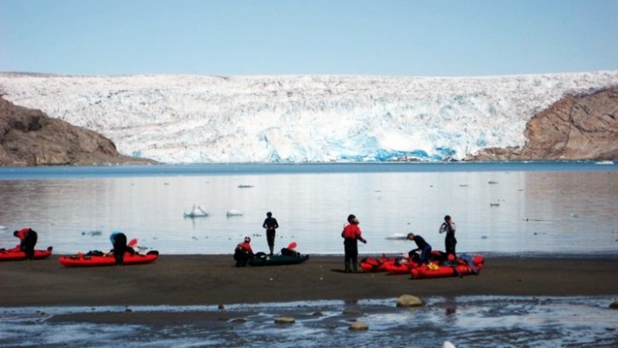 trekking groenlandia kayak