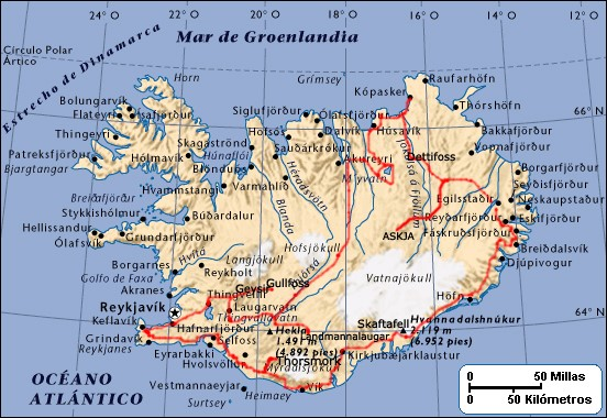 Trekking Islandia Mapa